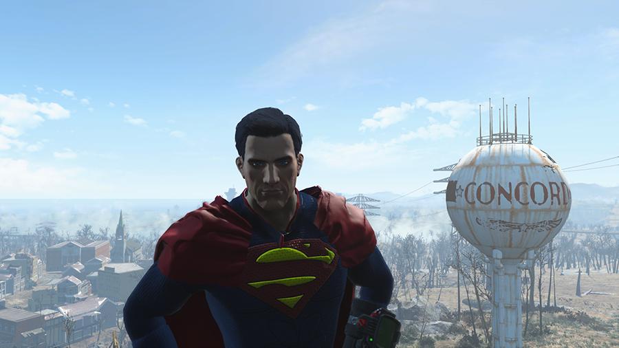 Наряд Супермена для Fallout 4 - Скриншот 3