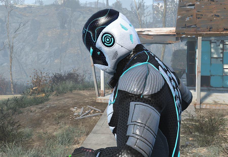 Стелс костюм с подсветкой для Fallout 4 - Скриншот 3