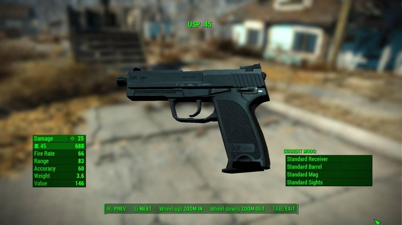 USP .45 для Fallout 4 - Скриншот 2