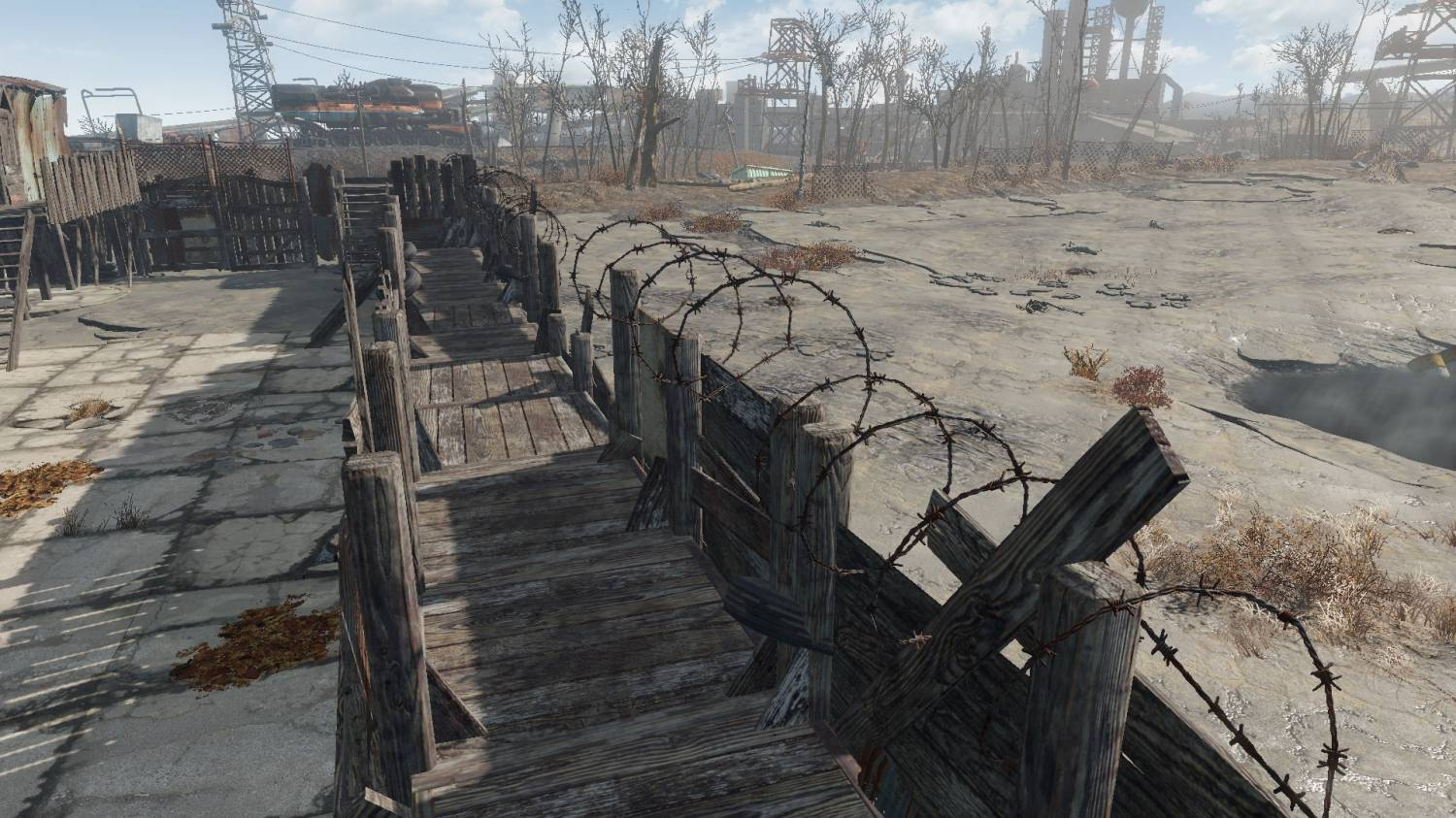 Snapable Junk Fences || Пол к стенам для Fallout 4 - Скриншот 2